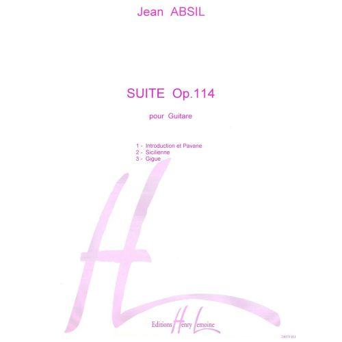 LEMOINE ABSIL JEAN - SUITE OP.114 - GUITARE