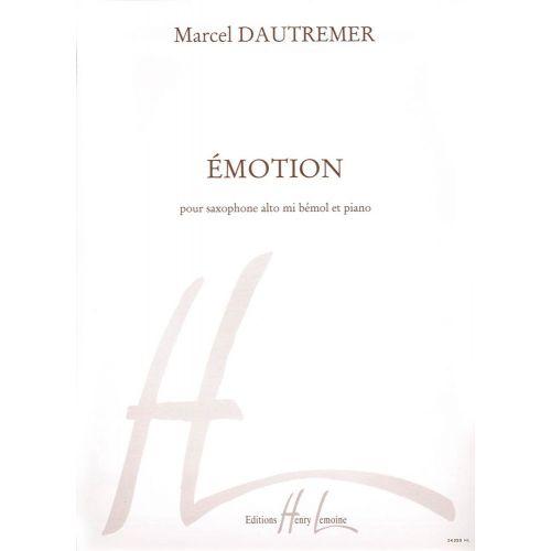 LEMOINE DAUTREMER MARCEL - EMOTION - SAXOPHONE, PIANO