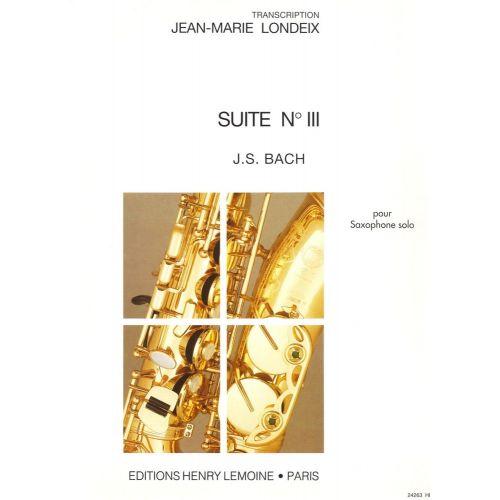 LEMOINE BACH J.S. - SUITE N°3 - SAXOPHONE SOLO