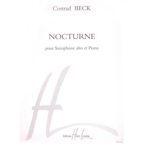 LEMOINE BECK CONRAD - NOCTURNE - SAXOPHONE MIB, PIANO