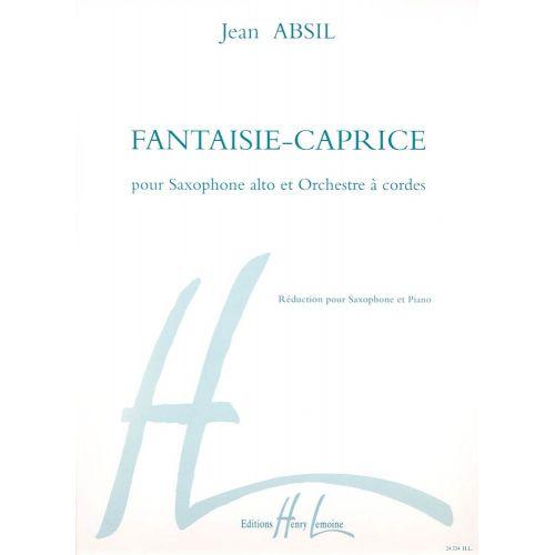 LEMOINE ABSIL JEAN - FANTAISIE CAPRICE OP.152 - SAXOPHONE ALTO, PIANO