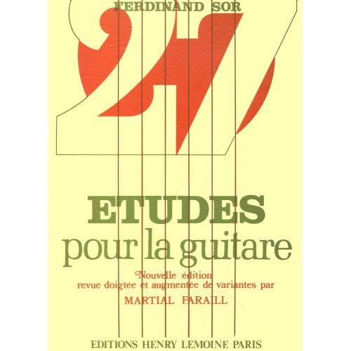 LEMOINE SOR FERNANDO - ETUDES (27) - GUITARE