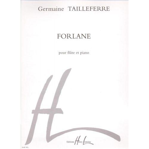 LEMOINE TAILLEFERRE G. - FORLANE - FLUTE, PIANO