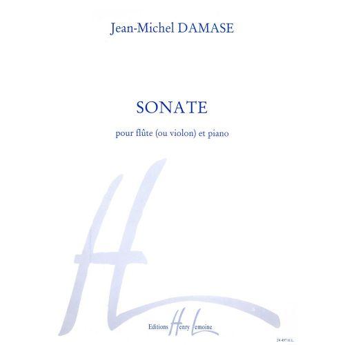 LEMOINE DAMASE JEAN-MICHEL - SONATE - FLUTE OU VIOLON, PIANO