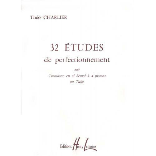 LEMOINE CHARLIER T. - ETUDES (32) - TROMBONE OU TUBA