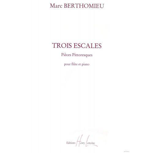 LEMOINE BERTHOMIEU MARC - ESCALES (3) - FLUTE, PIANO