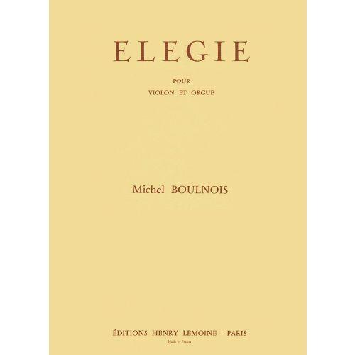 LEMOINE BOULNOIS MICHEL - ELEGIE - VIOLON, PIANO