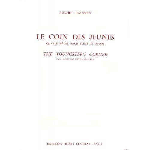LEMOINE PAUBON PIERRE - COIN DES JEUNES (LE) - FLUTE, PIANO
