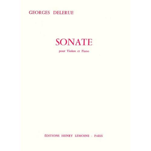 LEMOINE DELERUE GEORGES - SONATE - VIOLON, PIANO