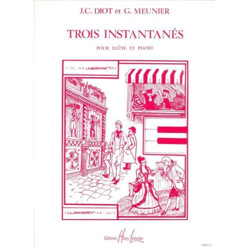 LEMOINE MEUNIER G. / DIOT J.-C. - INSTANTANÉS (3) - FLUTE, PIANO