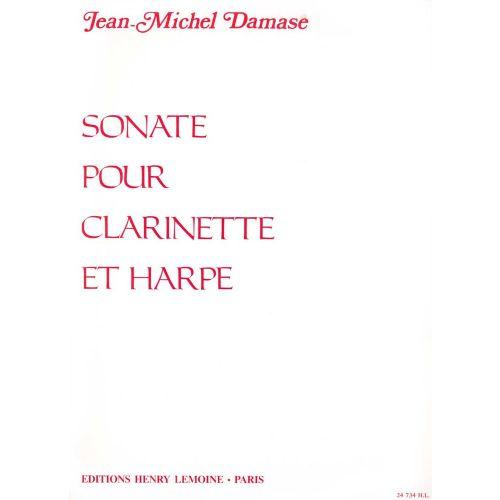 LEMOINE DAMASE JEAN-MICHEL - SONATE - CLARINETTE, HARPE