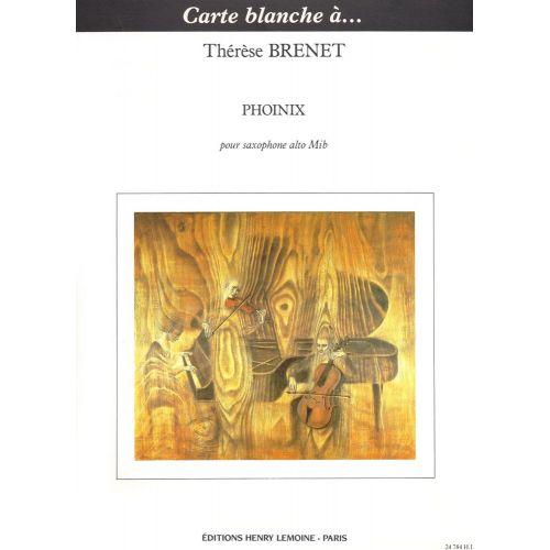 LEMOINE BRENET THERESE - PHOINIX - SAXOPHONE ALTO SOLO