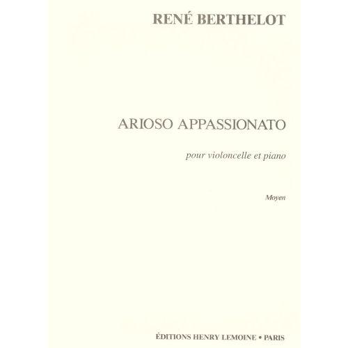 LEMOINE BERTHELOT RENE - ARIOSO APPASSIONATO - VIOLONCELLE