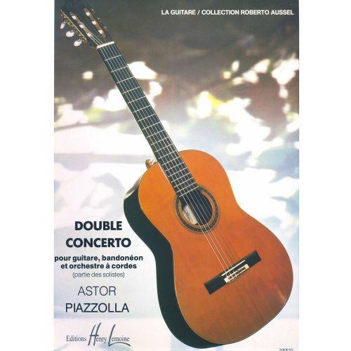 LEMOINE PIAZZOLLA ASTOR - DOUBLE CONCERTO - GUITARE, BANDONEON, CORDES