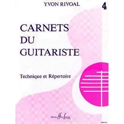 LEMOINE RIVOAL YVON - CARNETS DU GUITARISTE VOL.4