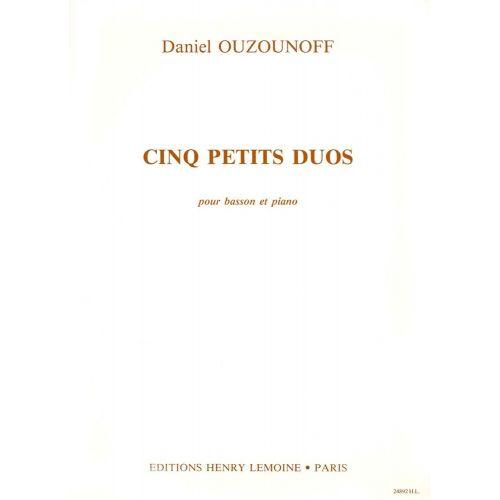 LEMOINE OUZOUNOFF DANIEL - PETITS DUOS - BASSON, PIANO