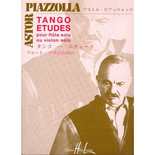 LEMOINE PIAZZOLLA ASTOR - TANGO - ETUDES (6) - FLUTE OU VIOLON