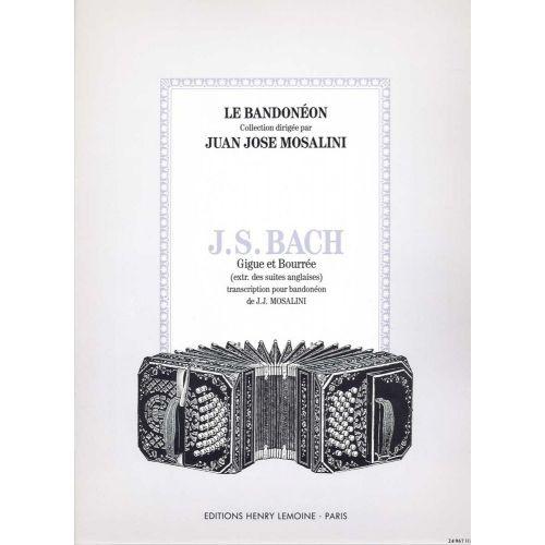 LEMOINE BACH J.S. - GIGUE ET BOURREE - BANDONEON