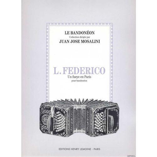 LEMOINE FEDERICO LEOPOLDO - UN FUEYE EN PARIS - BANDONEON