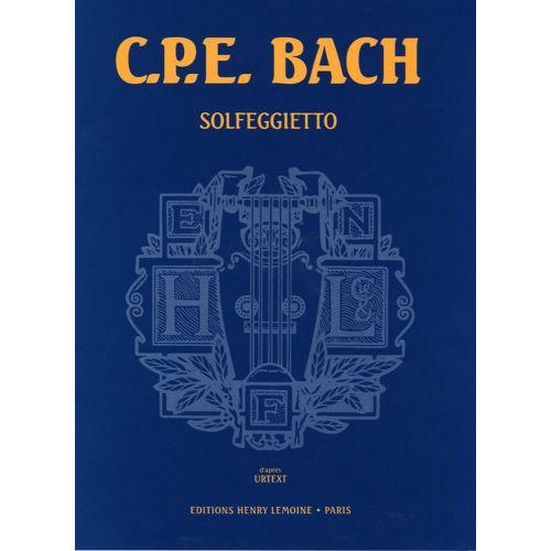 LEMOINE BACH C.P.E. - SOLFEGGIETTO - PIANO