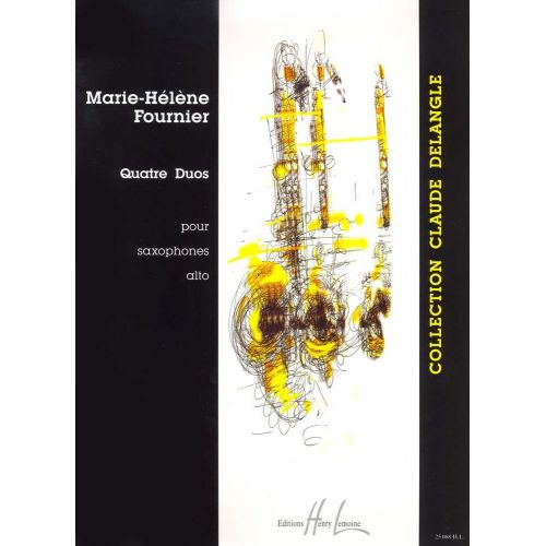 LEMOINE FOURNIER MARIE-HÉLÈNE - DUOS (4) - 2 SAXOPHONES