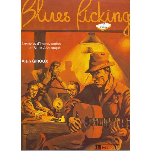 LEMOINE GIROUX ALAIN - LE BLUES PICKING + CD - GUITARE