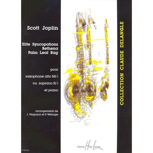 LEMOINE JOPLIN SCOTT - ELITE SYNCOPATIONS / BETHENA / PALM LEAF RAG - SAXOPHONE, PIANO