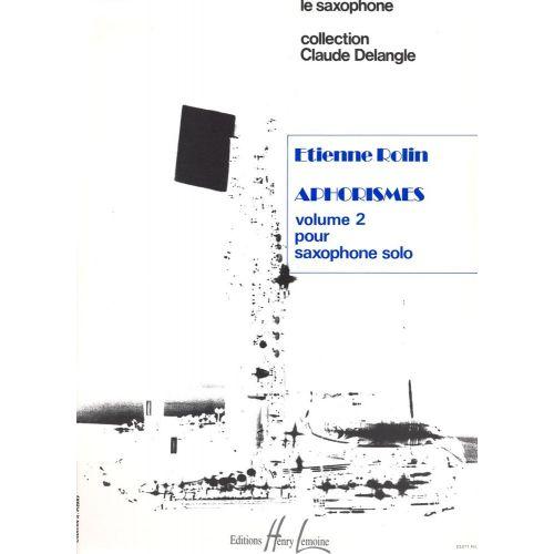 LEMOINE ROLIN ETIENNE - APHORISMES II (A À I) - SAXOPHONE