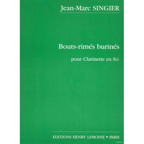 LEMOINE SINGIER JEAN-MARC - BOUTS RIMES BURINES - CLARINETTE