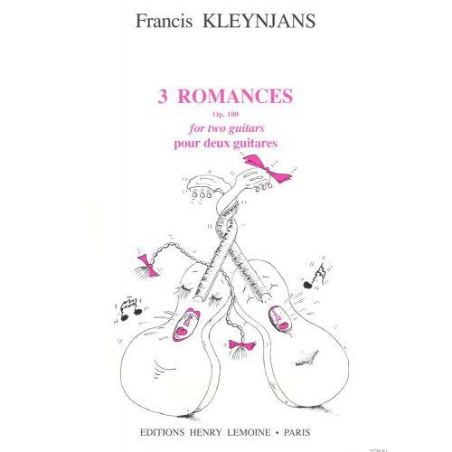 LEMOINE KLEYNJANS F. - ROMANCES (3) - 2 GUITARES