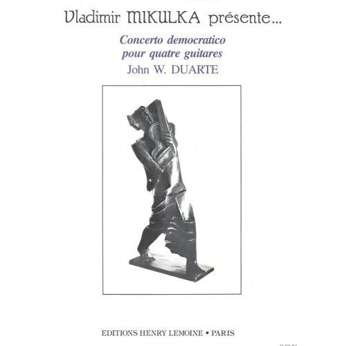 LEMOINE DUARTE JOHN - CONCERTO DEMOCRATICO - 4 GUITARES