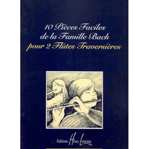 LEMOINE BACH - PIECES FACILES DE LA FAMILLE BACH (10) - 2 FLUTES