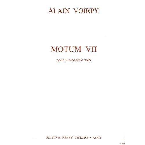 LEMOINE VOIRPY ALAIN - MOTUM VII - VIOLONCELLE