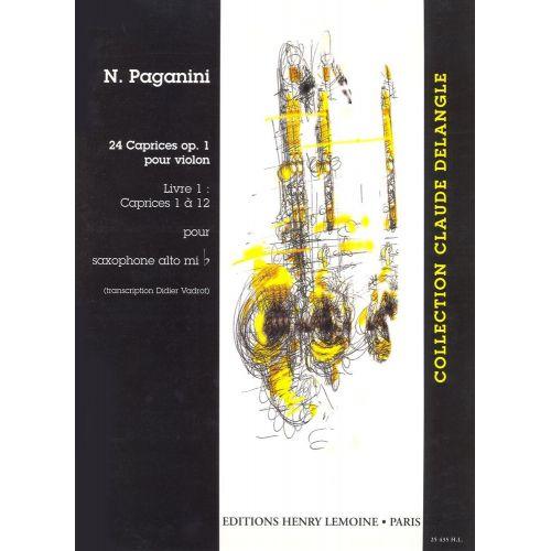 LEMOINE PAGANINI N. - CAPRICES (24) VOL.1 - SAXOPHONE SOLO