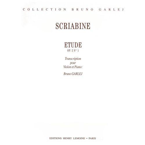 LEMOINE SCRIABINE A. - ETUDE OP.2 N°1 - VIOLON, PIANO