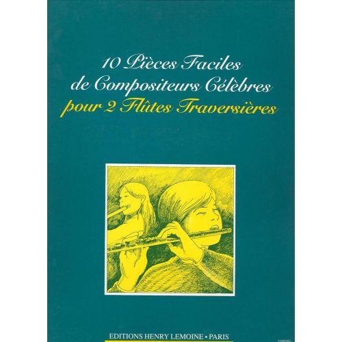 LEMOINE PIECES FACILES (10) - 2 FLUTES