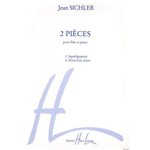 LEMOINE SICHLER JEAN - PIECES (2) - FLUTE, PIANO
