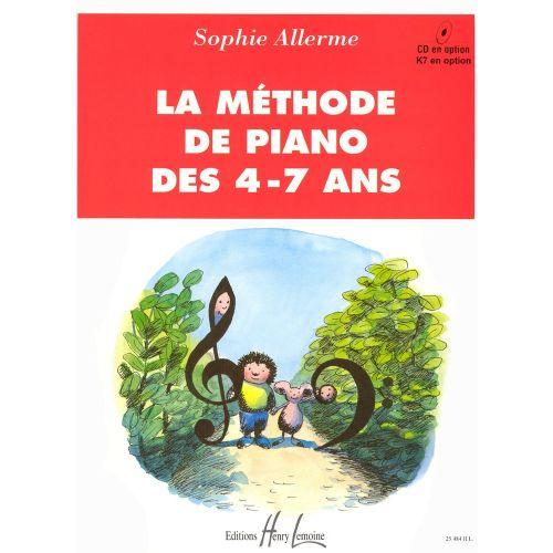 LEMOINE ALLERME SOPHIE - MÉTHODE DE PIANO DES 4-7 ANS