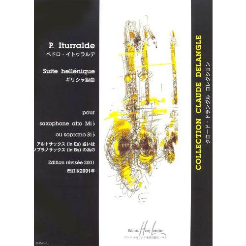 LEMOINE ITURRALDE PEDRO - SUITE HELLENIQUE - SAXOPHONE, PIANO