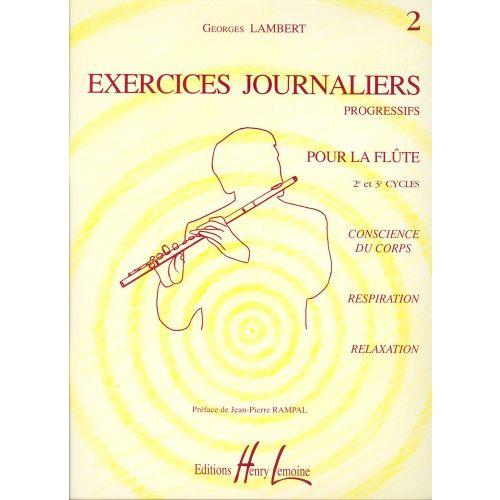 LEMOINE LAMBERT GEORGES - EXERCICES JOURNALIERS VOL.2 - FLUTE