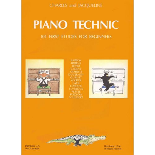 LEMOINE HERVE C./ POUILLARD J. - PIANO TECHNIC - 101 STUDIES FOR BEGINNERS - PIANO