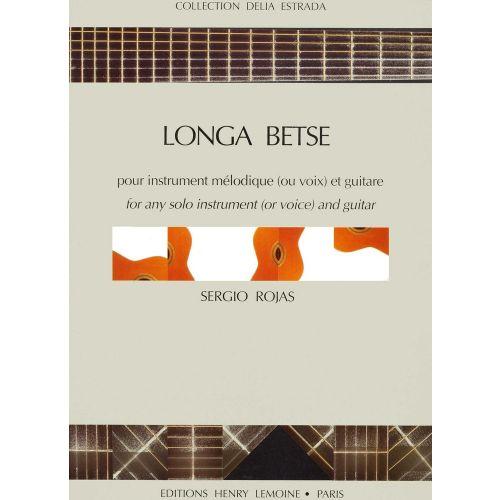 LEMOINE ROJAS SERGIO - LONGA BETSE - GUITARE, 1 INSTRUMENT