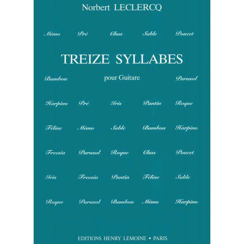 LEMOINE LECLERCQ NORBERT - SYLLABES (13) - GUITARE