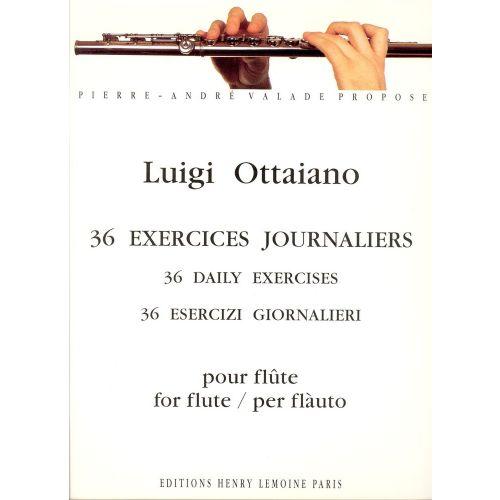 LEMOINE OTTAIANO LUIGI - EXERCICES JOURNALIERS (36) - FLUTE