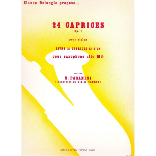 LEMOINE PAGANINI N. - CAPRICES (24) VOL.2 - SAXOPHONE SOLO