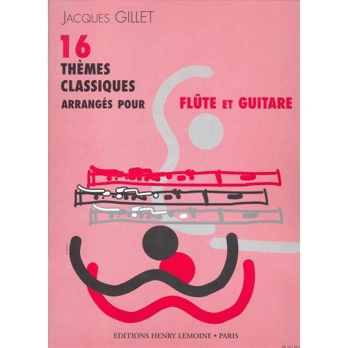 LEMOINE THEMES CLASSIQUES (16) - FLUTE, GUITARE