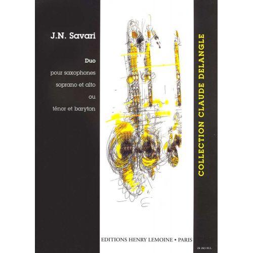 LEMOINE SAVARI J.N. - DUO - 2 SAXOPHONES