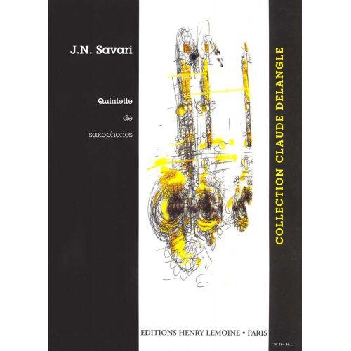 LEMOINE SAVARI J.N. - QUINTETTE - 5 SAXOPHONES