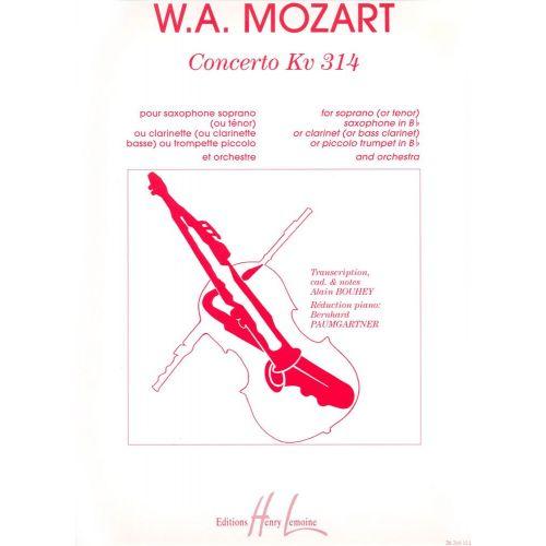 LEMOINE MOZART W.A. - CONCERTO KV314 - CLARINETTE OU SAXOPHONE OU TROMPETTE, PIANO