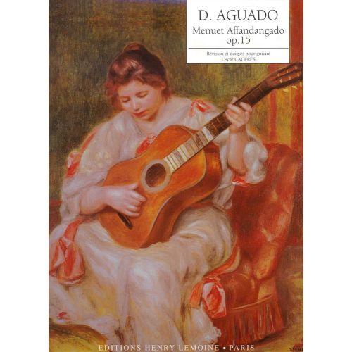 LEMOINE AGUADO DIONISIO - MENUET AFFANDANGADO OP.15 - GUITARE